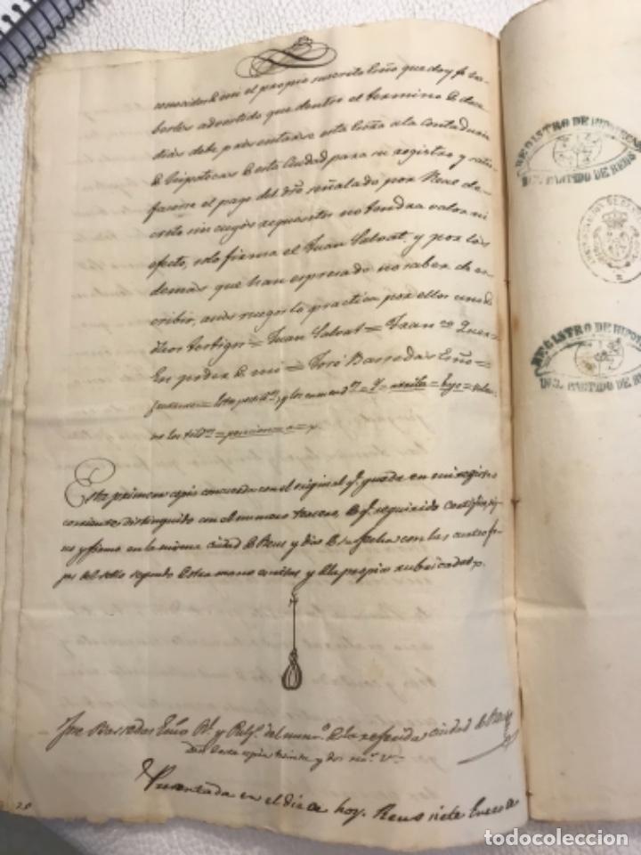 Manuscritos antiguos: DOCUMENTACIÓN MANUSCRITA ESCRITURA DE VENTA 1843 REUS TARRAGONA. - Foto 6 - 253228240