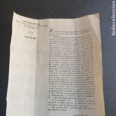 Manuscritos antiguos: CASARRUBIOS DEL MONTE REBAJA DE UNA TERCERA PARTE EL ABASTO DEL VINO 1820 SIGLO XIX. Lote 253237300