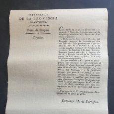 Manuscritos antiguos: NOMBRAMIENTO VISITADOR DE PROPIOS CATALUÑA JUAN KEARNEY TENIENTE CORONEL RETIRADO 1830 SIGLO XIX. Lote 253242715