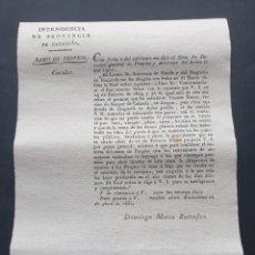 Manoscritti antichi: PERMISO DE SAMPER DE CALANDRA EN ARAGON, ABRIR UNA DROGUERÍA 1830 SIGLO XIX. Lote 253306125