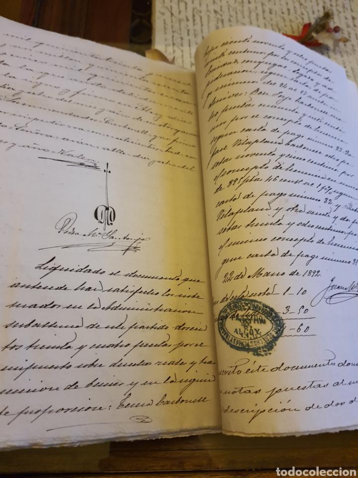 Manuscritos antiguos: Escritura de alcoy. 1892 - Foto 2 - 253348020