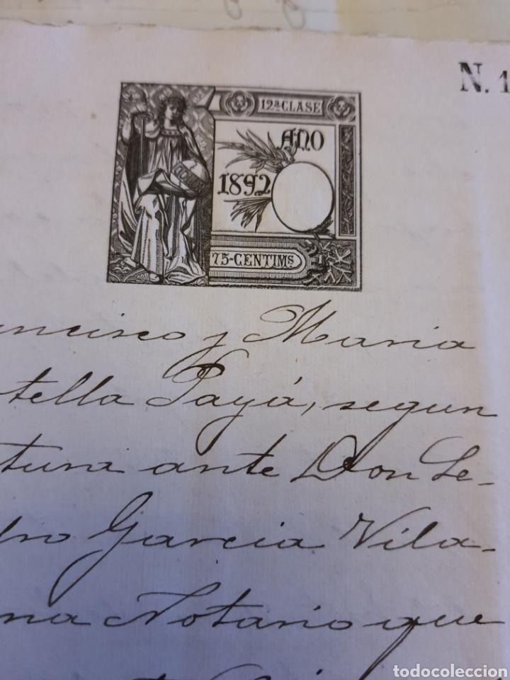 Manuscritos antiguos: Escritura de alcoy. 1892 - Foto 3 - 253348020