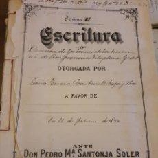 Manuscritos antiguos: ESCRITURA DE ALCOY. 1892. Lote 253348020