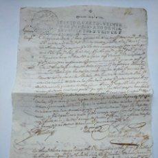 Manuscritos antiguos: ANTIGUO MANUSCRITO DEL AÑO 1725 POR IDENTIFICAR. Lote 253878735