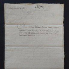 Manoscritti antichi: MANUSCRITO, FERNANDO VII, SELLO SEGUNDO - DOSCIENTOS SETENTA Y DOS MARAVEDIS, 1815. PALAMOS ..L3787. Lote 254213675