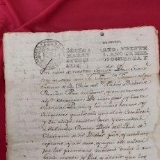 Manuscritos antiguos: MANUSCRITO. ARBOÇ/CASTELLET/COMA DEL HEREU/ VILAFRANCA PENEDES/ SALVADOR ROMEU. SELLO CUARTO. Lote 254254510