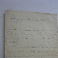 Manuscritos antiguos: ANTIGUA CARTA PEDIDOS.CERAMICA PICKMAN CIA.SEVILLA-ADELA SANCHEZ MUÑOZ.ZARAGOZA 1880. Lote 254445355