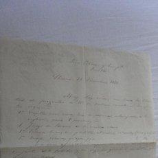 Manuscritos antiguos: ANTIGUA CARTA PEDIDOS.CERAMICA PICKMAN CIA.SEVILLA-PEDRO RODRIGUEZ.LLERENA BADAJOZ 1875. Lote 254445655