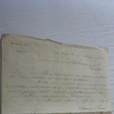 Manuscritos antiguos: ANTIGUA CARTA PEDIDOS.CERAMICA PICKMAN CIA.SEVILLA-EDUARDO RIVA.NOYA.CORUÑA 1876. Lote 254450730