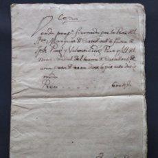 Manuscritos antiguos: MANUSCRITO EN LATIN - MONISTROL DE MONTSERRAT - AÑO 1752...L3796. Lote 254722355