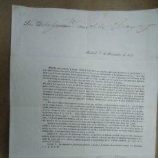 Manuscritos antiguos: 1843 CARTA DE AGRADECIMIENTO DE VOTO A CORTES DE LA PRIMERAS ELECIONES DE ESPAÑA EN 1843 EL SENADOR. Lote 254916430