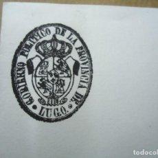Manuscritos antiguos: RARA CARTA CON SELLO DEL GOBIERNO POLÍTICO DE LA PROVINCIA DE LUGO 1843 DIRIGIDA AL ALCALDE CONSTITU. Lote 254917840