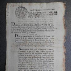 Manuscritos antiguos: CÉDULA REAL FISCAL OFICIOS AÑO 1784 INDUSTRIA DE PELLEJOS PARA CONDUCIR VINO ACEITE - BOTEROS. Lote 255562525