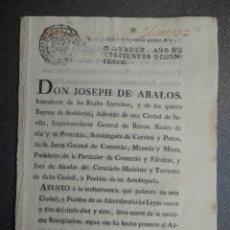 Manuscritos antiguos: CÉDULA REAL FISCALES OFICIOS AÑO 1785 ALCABALAS SOBRE VENTAS Y HERENCIAS. Lote 255563815