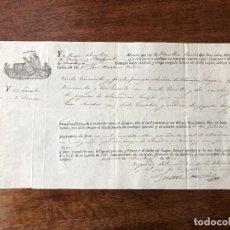 Manuscritos antiguos: AÑO 1830. CONOCIMIENTO DE EMBARQUE. ZULUETA E YSERN. JUAN SÁNCHEZ. ALMENDRAS. NAVÍO PASTORA.. Lote 255933775