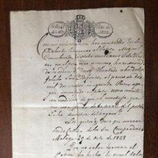 Manuscritos antiguos: AÑO 1828. MÁLAGA, ZULUETA HERMANOS DEL COMERCIO DE MÁLAGA. COMPRA AL PATRÓN CONCUBIERTA.. Lote 255935765