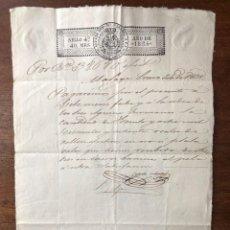 Manuscritos antiguos: AÑO 1835. MÁLAGA. AGUIRRE HERMANOS. ZULUETA E YSERN. PAGARÉ POR CUEROS VACUNOS AL PELO.. Lote 255943640