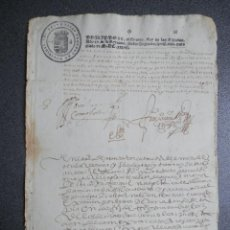 Manuscritos antiguos: MANUSCRITO AÑO 1637 FISCAL 2º 1ER SELLO FISCAL CALIDAD DE LUJO RONDA MÁLAGA ALGUACIL MAYOR. Lote 256102930