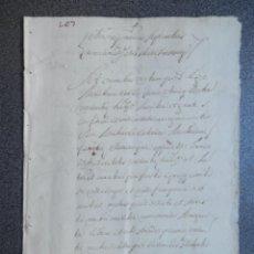 Manuscritos antiguos: MANUSCRITO AÑO 1683 VALENCIA APOCA EN FAVOR DEL CONDE DE VILLAFRANQUESA. Lote 256105480