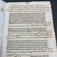 Manuscritos antiguos: IMPRESO-MANUSCRITO 1680. ANIÑÓN CALATAYUD. FIRMA NOTARIAL. VENTA DE UN TERRENO. Lote 257284695
