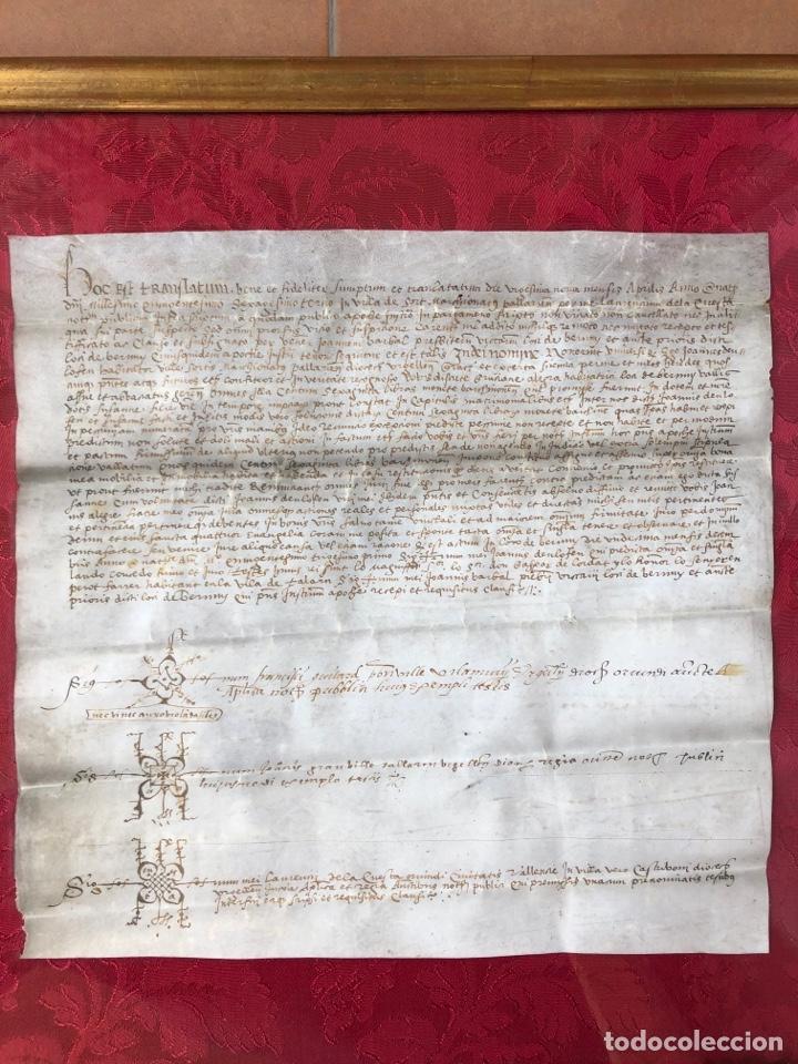 Manuscritos antiguos: Manuscrito en pergamino año 1531 Cataluña/Villa de Sort/Don Gaspar de Lordat/Perot Farrer/ - Foto 3 - 257579335