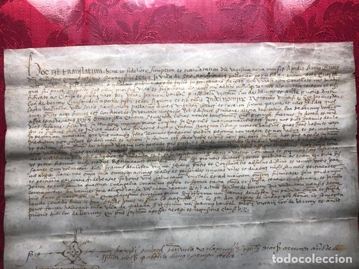 Manuscritos antiguos: Manuscrito en pergamino año 1531 Cataluña/Villa de Sort/Don Gaspar de Lordat/Perot Farrer/ - Foto 4 - 257579335