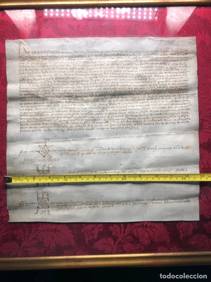 Manuscritos antiguos: Manuscrito en pergamino año 1531 Cataluña/Villa de Sort/Don Gaspar de Lordat/Perot Farrer/ - Foto 8 - 257579335