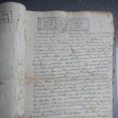 Manuscritos antiguos: 6 MANUSCRITOS AÑOS 1825 - 1827 FISCALES VARIADOS ARMENTAL VILASANTAR CORUÑA 51 PÁGINAS PLEITO. Lote 257683080