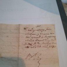 Manuscritos antiguos: MANUSCRITO . DIVISIÓN Y ENTREGA DE BIENES. 21 NOV 1774 (408-1). Lote 257690755
