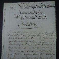 Manuscritos antiguos: CUENTA DE APODERADO DE LA REAL FÁBRICA DE TABACOS DE SEVILLA 1832 PEQUEÑO LEGAJO QUE DICE CUENTA DE. Lote 257694330