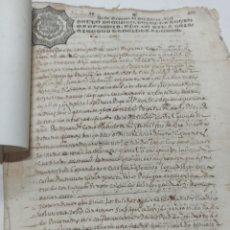 Manuscritos antiguos: MANUSCRITO CORTEGANA, HUELVA, S. XVII 1639-1859, PAPEL TIMBRADO , ESCRITURA DE UNA CASA, 6 FOLIOS. Lote 258769710