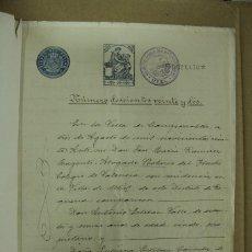 Manuscritos antiguos: ESCRITURA EN MIRA - CUENCA AÑO 1936 - 11 FOLIOS MUY BIEN CONSERVADOS. REF.80. Lote 260055790