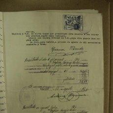Manuscritos antiguos: ESCRITURA EN MIRA - CUENCA AÑO 1940 - 3 FOLIOS MUY BIEN CONSERVADOS. REF.89. Lote 260056360
