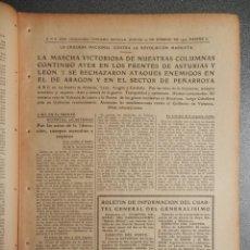 Manuscritos antiguos: PERIÓDICO GUERRA CIVIL ABC 23/09/1937 BATALLA FRENTES LEÓN ASTURIAS CÓRDOBA TOMA PEDROSO CAMARMEÑA. Lote 261295680