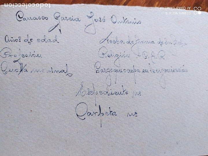 Manuscritos antiguos: JML FET JONS GUERRA CIVIL FRANQUISMO FALANGE DOCUMENTO INTONSO MANUSCRITO HUERCAL OVERA ALMERIA - Foto 3 - 262055950