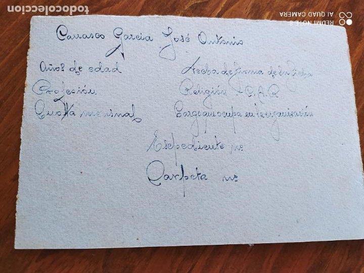 JML FET JONS GUERRA CIVIL FRANQUISMO FALANGE DOCUMENTO INTONSO MANUSCRITO HUERCAL OVERA ALMERIA (Coleccionismo - Documentos - Manuscritos)