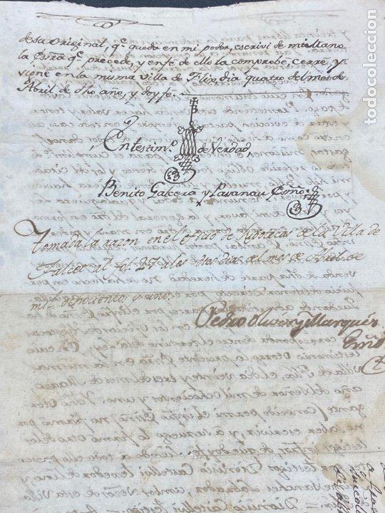 Manuscritos antiguos: SELLO SEGUNDO 1801. LUGAR DE LA BISBAL PARTIDO DE MONTBLANC. VENTA TERRENO REGADÍO FIRMA - Foto 5 - 262433305
