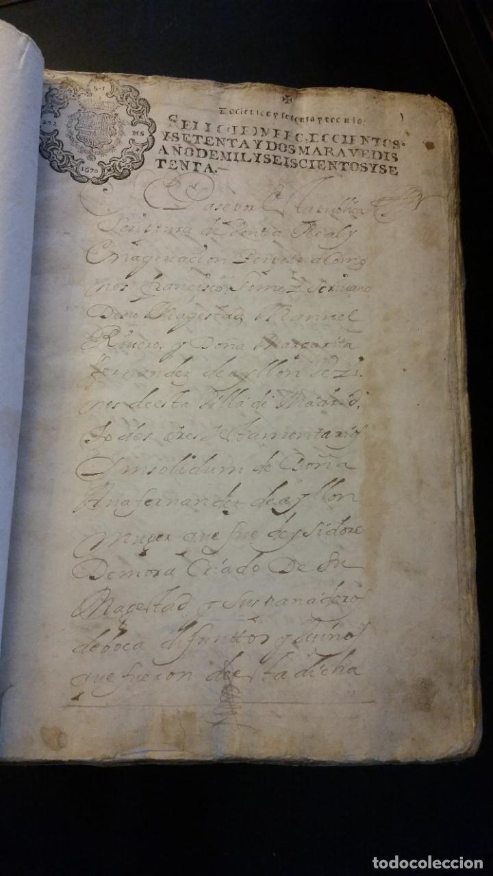 Manuscritos antiguos: MANUSCRITOS SIGLOS XVII Y XVIII CALLE MAYOR DE MADRID - Foto 3 - 262461245