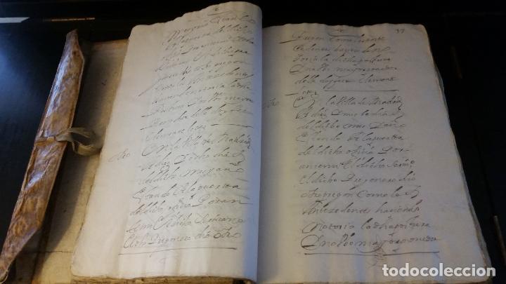 Manuscritos antiguos: MANUSCRITOS SIGLOS XVII Y XVIII CALLE MAYOR DE MADRID - Foto 6 - 262461245