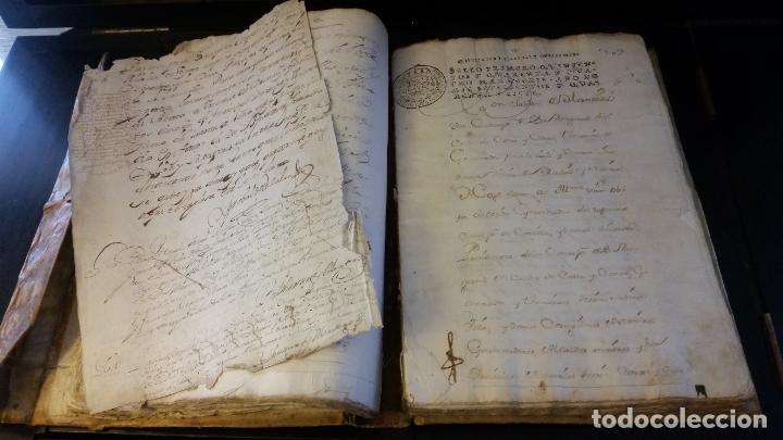 Manuscritos antiguos: MANUSCRITOS SIGLOS XVII Y XVIII CALLE MAYOR DE MADRID - Foto 7 - 262461245