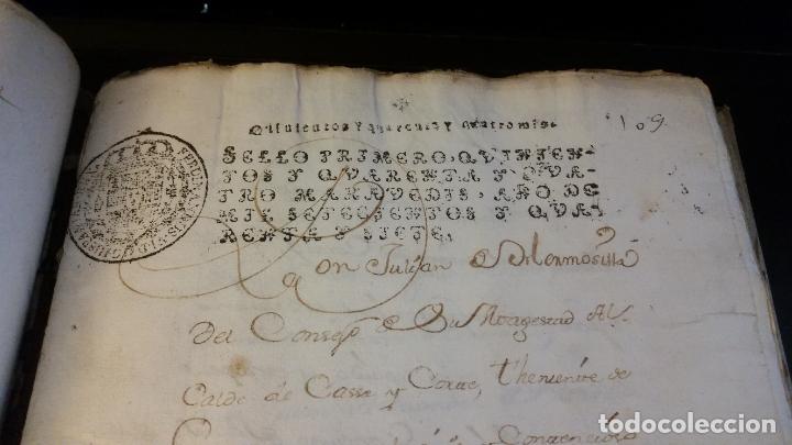 Manuscritos antiguos: MANUSCRITOS SIGLOS XVII Y XVIII CALLE MAYOR DE MADRID - Foto 8 - 262461245