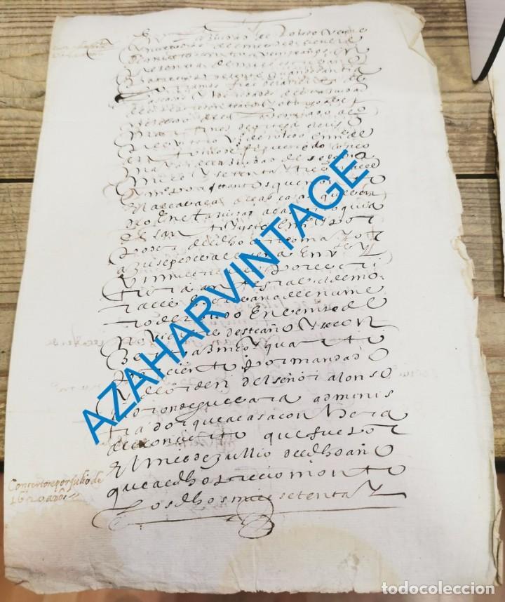 TOLEDO, 1620, CARTA DE PAGO ALCABALA DE UNAS CASAS, 2 PAGINAS (Coleccionismo - Documentos - Manuscritos)