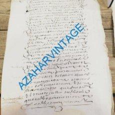 Manuscritos antiguos: TOLEDO, 1620, CARTA DE PAGO ALCABALA DE UNAS CASAS, 2 PAGINAS. Lote 262849975