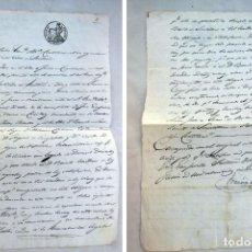 Manuscritos antiguos: FRANCISCO PRIDA (SANTOÑA) EN LITIGIO JOSE ESCAJADILLO FERNÁNDEZ (COLINDRES) BENITO SOMELLERA 1851. Lote 262989695
