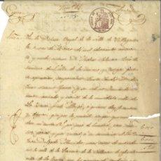 Manuscritos antiguos: DOCUMENTO MANUSCRITO, PAPEL SELLADO FISCAL, SELLO 2º, AÑO 1859. REINADO ISABEL II. Lote 263055115