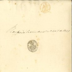 Manuscritos antiguos: DOCUMENTO MANUSCRITO, PAPEL SELLADO FISCAL, SELLO 2º, AÑO 1861. REINADO ISABEL II. Lote 263055435