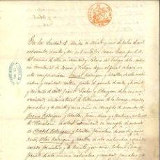 Manuscritos antiguos: DOCUMENTO MANUSCRITO, PAPEL SELLADO FISCAL, SELLO 8º, AÑO 1862. REINADO ISABEL II. Lote 263055830