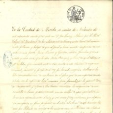 Manuscritos antiguos: DOCUMENTO MANUSCRITO, PAPEL SELLADO FISCAL, SELLO 9º, AÑO 1862. REINADO ISABEL II. Lote 263055935