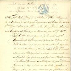 Manuscritos antiguos: DOCUMENTO MANUSCRITO, PAPEL SELLADO FISCAL, SELLO JUDICIAL 2 RS., AÑO 1862. REINADO ISABEL II. Lote 263056930