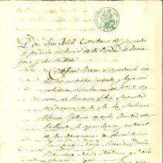 Manuscritos antiguos: DOCUMENTO MANUSCRITO, PAPEL SELLADO FISCAL, SELLO JUDICIAL 6 RS., AÑO 1863. REINADO ISABEL II. Lote 263057085